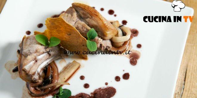 Masterchef 7 | Maialino da latte al mirto con trevisana ricetta Stefano Biondi
