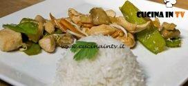 Masterchef Italia 7 - ricetta Pollo saltato con verdure e riso pilaf al vapore di Davide Aviano