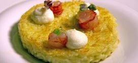 Masterchef Italia 7 - ricetta Risotto con zucchine trombetta gamberi e burrata di Denise Delli