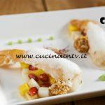 Masterchef Italia 7 - ricetta Scampi con frutta tropicale e aria di cocco di Joayda Herrera