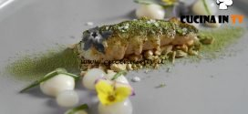 Masterchef Italia 7 - ricetta Scampo yuzu e tè verde matcha di Massimiliano Musso