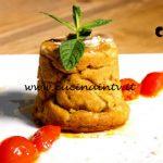 Masterchef Italia 7 - ricetta Sformatino di gambi di carciofo e besciamella con pomodorini caramellati di Marianna Calderaro