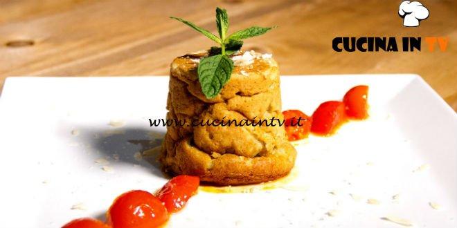 Masterchef 7 | Sformatino di gambi di carciofo e besciamella con pomodorini caramellati ricetta Marianna Calderaro