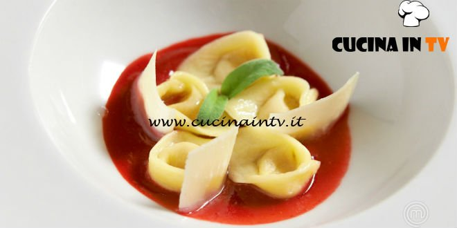 Masterchef 7 | Tortelli di zucca su salsa di lamponi ricetta Rocco Buffone