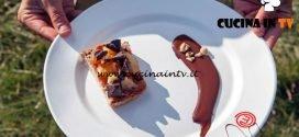 Masterchef Italia 7 - ricetta Bruschetta dolce con confettura e glassa di cioccolato fondente di Manuela Costantini