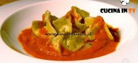 Masterchef Italia 7 - ricetta Fagottini di rana pescatrice gamberi crudi e la loro bisque di Davide Aviano