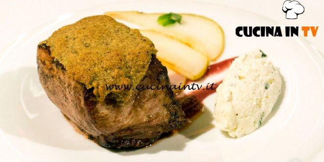 Masterchef 7 | Filetto di maiale tra dolcezza e acidità ricetta Simone Scipioni