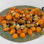 Masterchef Italia 7 - ricetta Gnocchetti al ragù di mare su crema di cozze e trucioli di tarallo di Davide Aviano