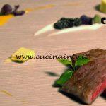 Masterchef Italia 7 - ricetta Kobe con salsa ai frutti esotici caviale e crema di scalogno di Valerio Braschi