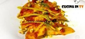 Masterchef 7 | Mezzelune prosciutto e melone pomodoro e nocciole tostate ricetta Simone Scipioni