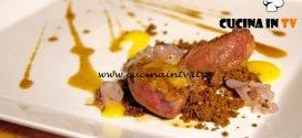 Masterchef Italia 7 - ricetta Piccione terra di caffè arancia e miele di castagno di Alberto Menino