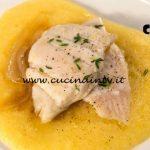 Masterchef Italia 7 - ricetta Platessa polenta e cipolle caramellate di Simone Scipioni