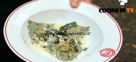 Masterchef Italia 7 - ricetta Ravioli di ortica con ripieno di zucca al burro e salvia di Antonino Bucolo