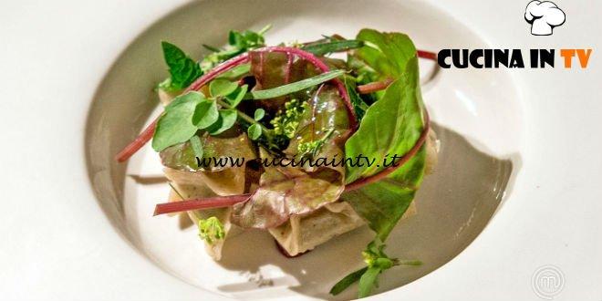 Masterchef Italia 7 - ricetta Raviolini arrostiti alla cicoria selvatica di Antonia Klugmann