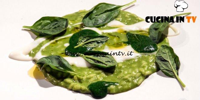 Masterchef 7 | Risotto spinacino grappa ginepro e parmigiano ricetta Antonia Klugmann