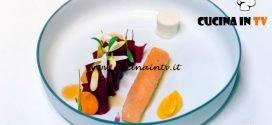Masterchef Italia 7 - ricetta Salmerino e carote di Andreas Caminada