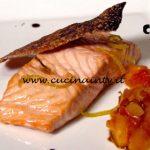 Masterchef Italia 7 - ricetta Salmone chutney di mango e liquirizia di Francesco Rozza