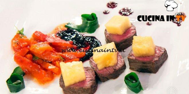 Masterchef Italia 7 - ricetta Sottofesa marinata all'ananas di Fabrizio Ferri