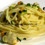 Masterchef Italia 7 - ricetta Spaghetti vongole fritte e zucchine di Francesco Rozza