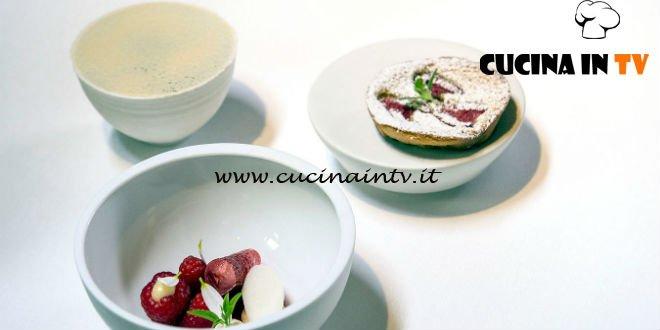 Masterchef 7 | Yogurt lampone e fiori di sambuco ricetta Andreas Caminada