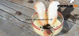 Masterchef Italia 7 - ricetta Zabaione caldo con crumble al cioccolato e lingue di gatto di Francesco Rozza