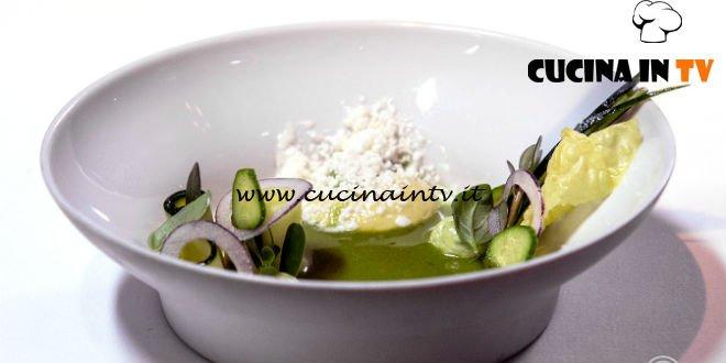 Masterchef 7 | Zuppa di cetriolo fredda con avocado e latticello ricetta Andreas Caminada