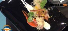La Prova del Cuoco - ricetta Cannolo di verdure su vellutata di caciocavallo di Natale Giunta