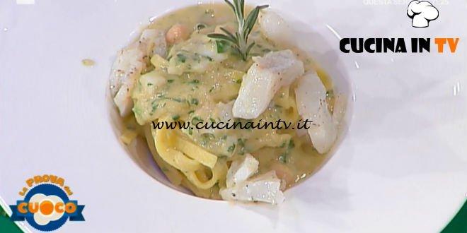 La Prova del Cuoco | Fettuccine con crema di ceci e baccalà ricetta Anna Maria Palma