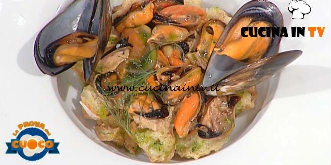La Prova del Cuoco - ricetta Fresella impepata cozze marinate e loro maionese di Kaba Corapi