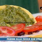 La Prova del Cuoco - ricetta Panino alla zucca con stracchino pesto al basilico e olive taggiasche di Ezio Marinato