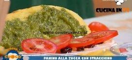La Prova del Cuoco | Panino alla zucca con stracchino pesto al basilico e olive taggiasche ricetta Ezio Marinato