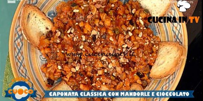La Prova del Cuoco - ricetta Caponata classica con mandorle e cioccolato di Natale Giunta