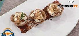 La Prova del Cuoco - ricetta Cestini al castagnaccio arancia candita e rosmarino di Franco Mazzei