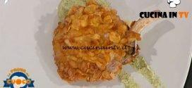 La Prova del Cuoco - ricetta Costolette di maiale in fiocchi di mais su scapece allo yogurt di Antonio Paolino