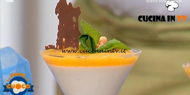 La Prova del Cuoco - ricetta Cremoso di ricotta con cachi alla vaniglia menta e cioccolato di Marco Bottega