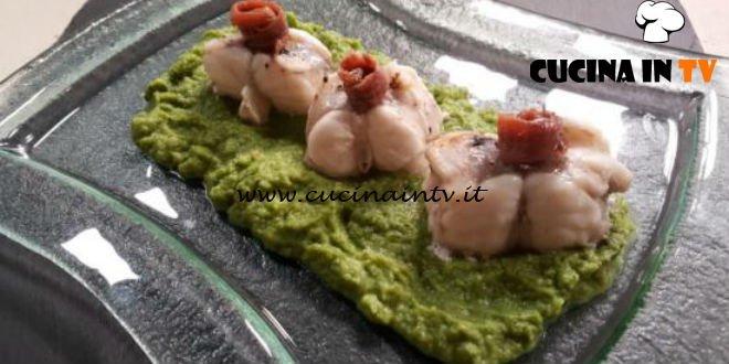Cotto e mangiato - Filetti di rana pescatrice con crema di broccoli ricetta Tessa Gelisio