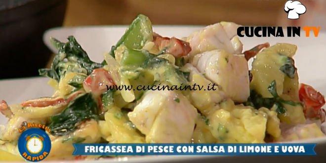 La Prova del Cuoco - ricetta Fricassea di pesce con salsa di limone e uova di Roberto Carcangiu