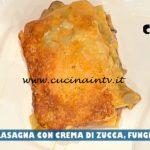La Prova del Cuoco - ricetta Lasagna con crema di zucca funghi e radicchio di Fabio Campoli