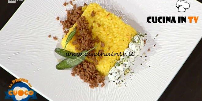 La Prova del Cuoco | Milanese al salto caprino alle erbe e luganega croccante ricetta Riccardo Carnevali