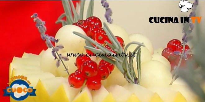 La Prova del Cuoco | Perle di melone con zabaione al porto e pistacchio ricetta Daniele Paralovo