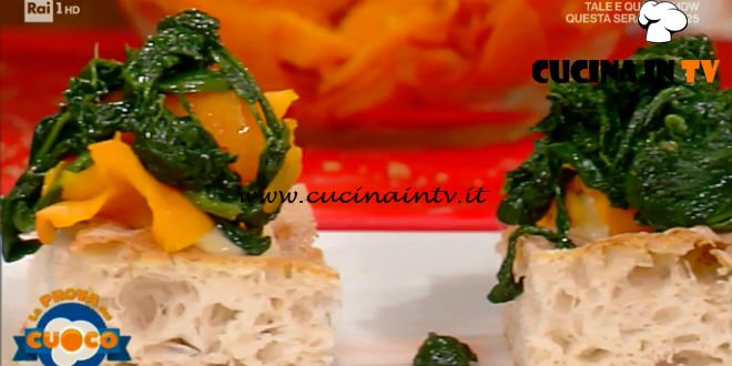 La Prova del Cuoco | Pizza in teglia con zucca spinaci e formaggio ricetta Renato Bosco