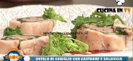 La Prova del Cuoco - ricetta Rotolo di coniglio con castagne e salsiccia di Marco Bottega