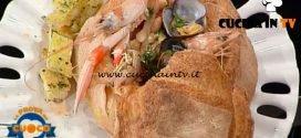 La Prova del Cuoco - ricetta Scodella di pane con zuppetta di legumi e frutti di mare di Anna Maria Palma
