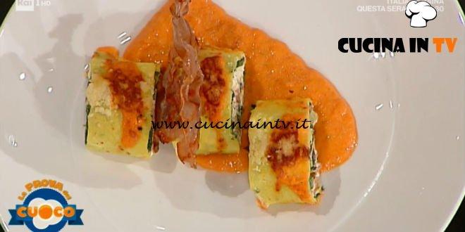 La Prova del Cuoco | Spirali di cannelloni con salsa di peperoni arrostiti ricetta Riccardo Carnevali