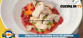 La Prova del Cuoco - ricetta Straccetti di tacchino alla melagrana di Roberto Carcangiu