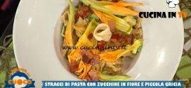La Prova del Cuoco - ricetta Stracci di pasta con zucchine in fiore e piccola gricia di Paolo Cacciani