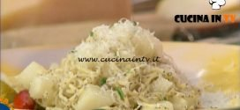 La Prova del Cuoco - ricetta Tagliolini alle pere e montasio stravecchio di Diego Scaramuzza