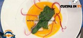 La Prova del Cuoco - ricetta Baccalà al vapore in salsa di zucca e zenzero di Moreno Cedroni