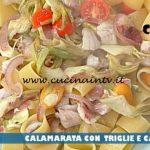 La Prova del Cuoco - ricetta Calamarata con triglie e carciofi di Diego Bongiovanni