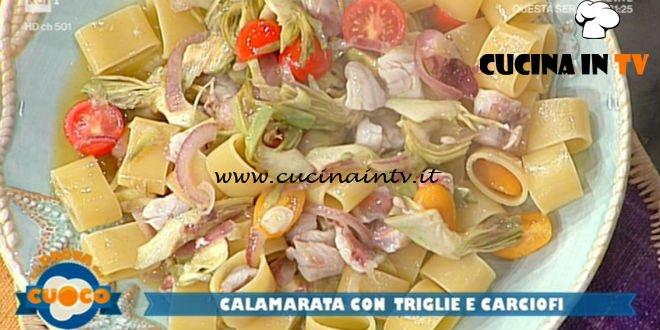 La Prova del Cuoco | Calamarata con triglie e carciofi ricetta Diego Bongiovanni